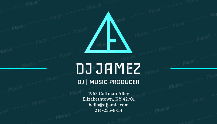 Placeit online business card template for a music producer online business card template for a music producer 130dforeground image fbccfo Gallery