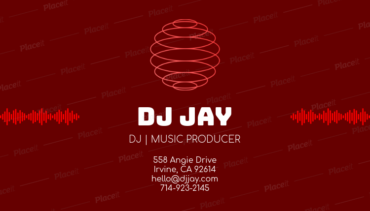 Placeit dj business card template with soundwave clipart dj business card template with soundwave clipart 130bforeground image colourmoves