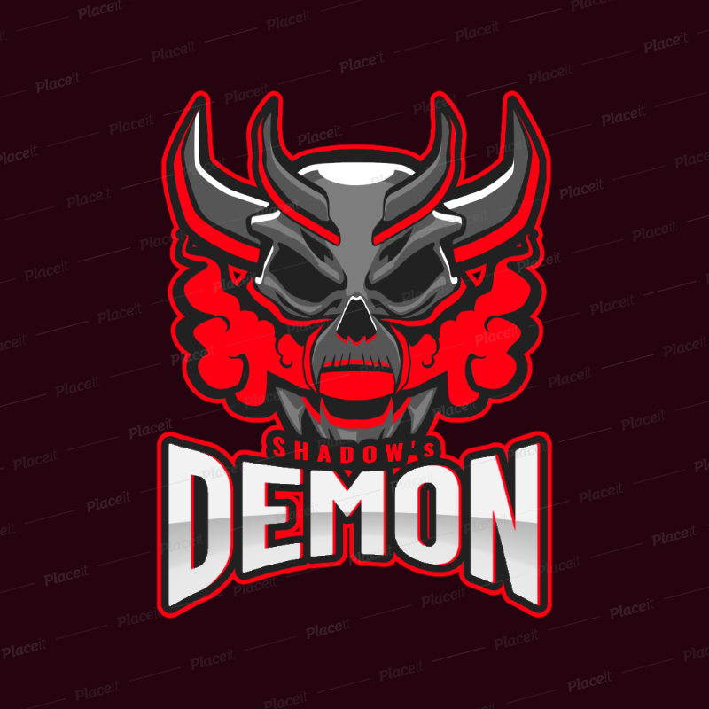 placeit gaming logo maker featuring a devilish demon gaming logo maker featuring a devilish demon 1877t 2931