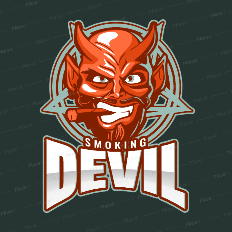 placeit gaming logo template with a graphic of a devil smoking animated gaming logo template with a graphic of a devil smoking 1877o 2932