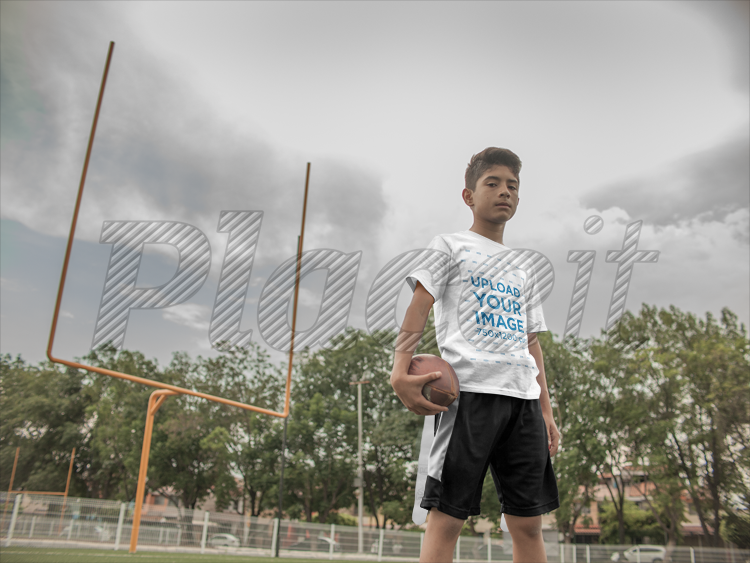 2e08112d2d2 Custom Football Jerseys - Kid at the Field a16475Foreground Image