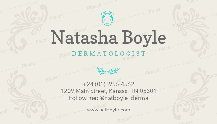 Dermatologist Business Card Template a203