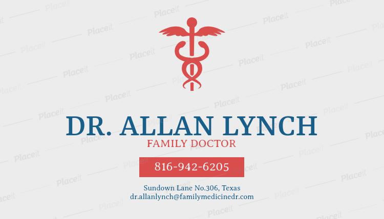 medical business cards maker for family practice 74cforeground image - Medical Business Cards