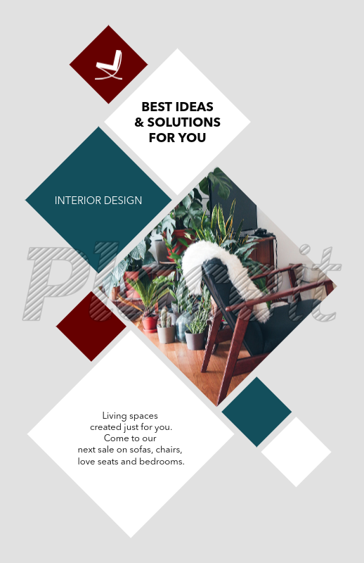 placeit interior design online flyer maker