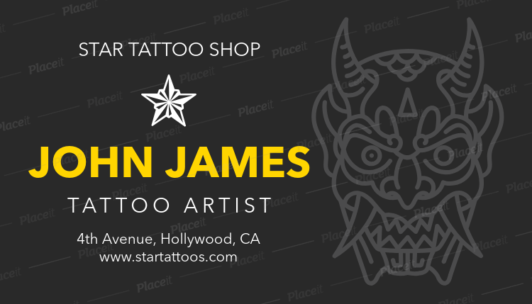 Placeit tattoo business card maker tattoo business card maker a95foreground image reheart