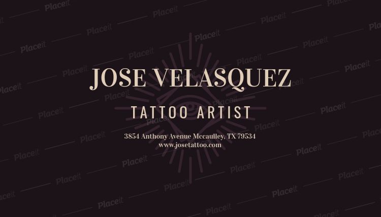 Placeit business card maker for modern tattoo shops business card maker for modern tattoo shops 95dforeground image reheart Images