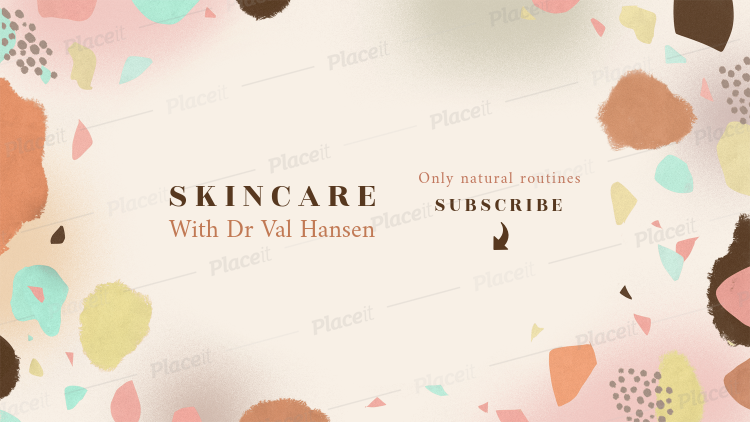 Placeit Youtube Banner Maker For A Skincare Themed Channel