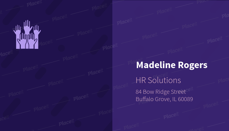 Placeit business card template for hr solutions company business card template for hr solutions company 515aforeground image friedricerecipe Image collections