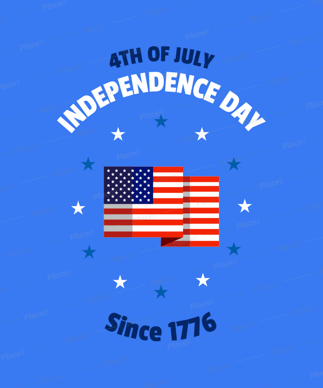 placeit 4th of july shirt design template