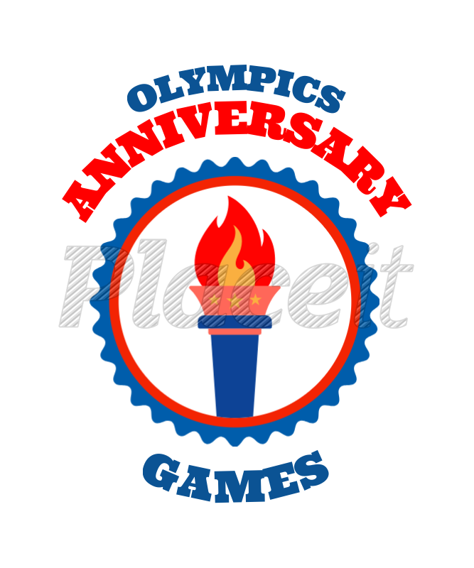 Placeit T Shirt Design Maker For Olympic Games With Olympic Symbols