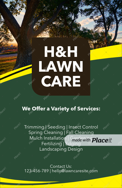 Placeit - Flyer Template to Design a Landscaping Flyer