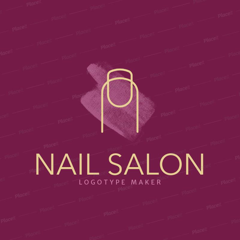 placeit nail salon logo maker with minimalistic design