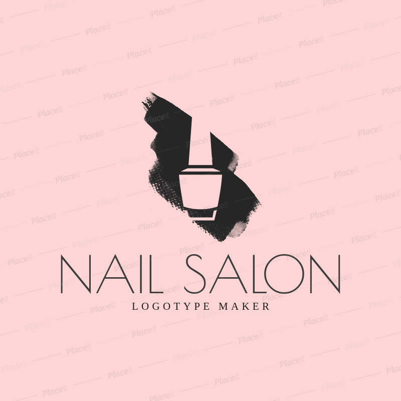 Placeit Negative Space Logo Maker For Nail Salons
