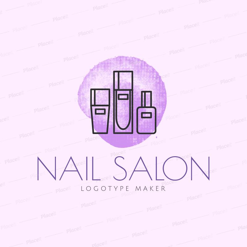 Placeit Nail Salon Logo Maker With Sleek Design