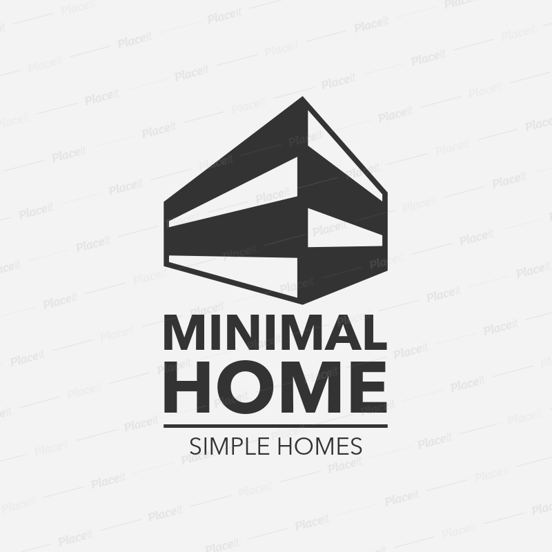 placeit minimalist real estate logo template