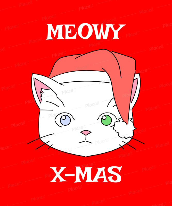 christmas tee design template with cute cats 835aforeground image - Christmas Names For Cats