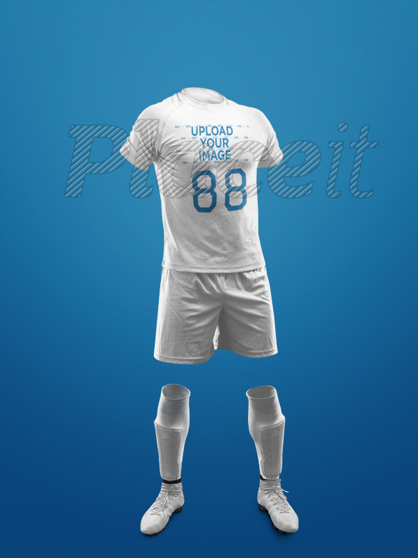 67d5ce4fc7b Custom Soccer Jerseys - Invisible Model Standing Against a Solid Background