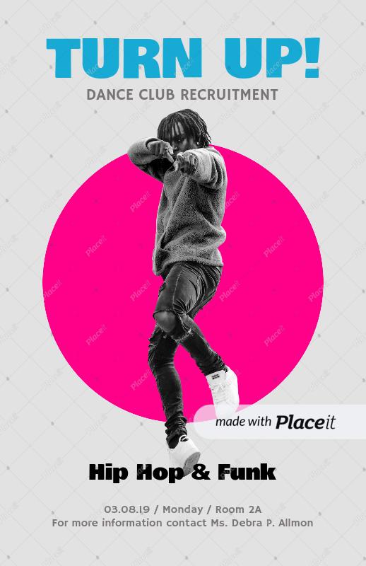 placeit online flyer maker for dance clubs