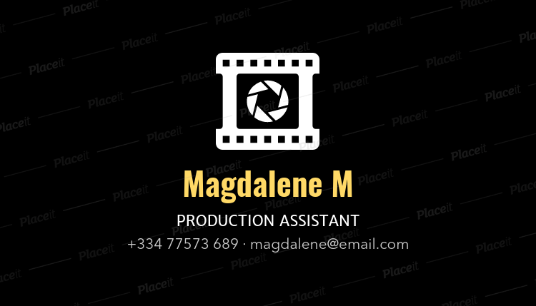 Placeit professional business card template for film producers professional business card template for film producers 207bforeground image cheaphphosting Gallery