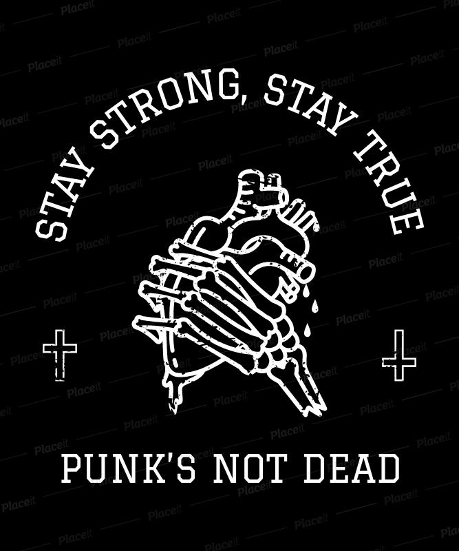 placeit rock tshirt design template