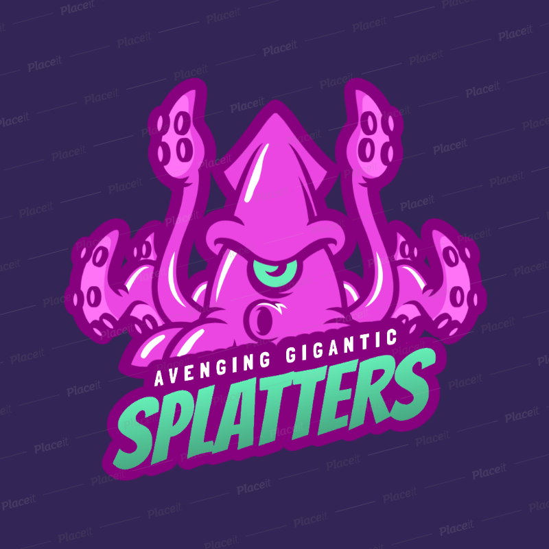 placeit gaming logo maker featuring a squid monster gaming logo maker featuring a squid monster 1847f