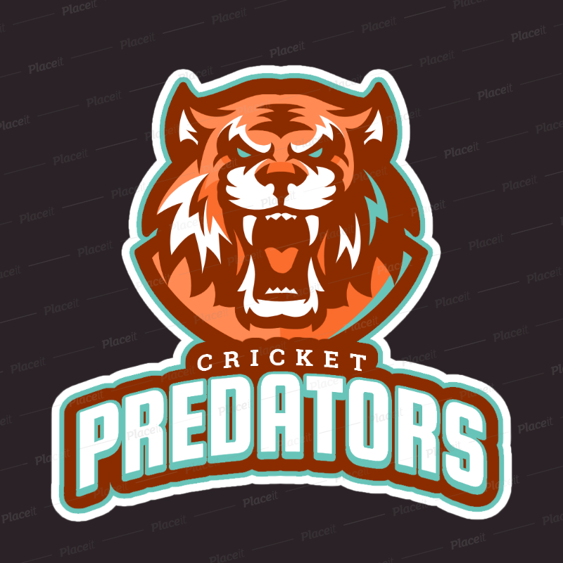 placeit cricket logo template featuring a roaring tiger s face cricket logo template featuring a roaring tigers face 1651g 2880