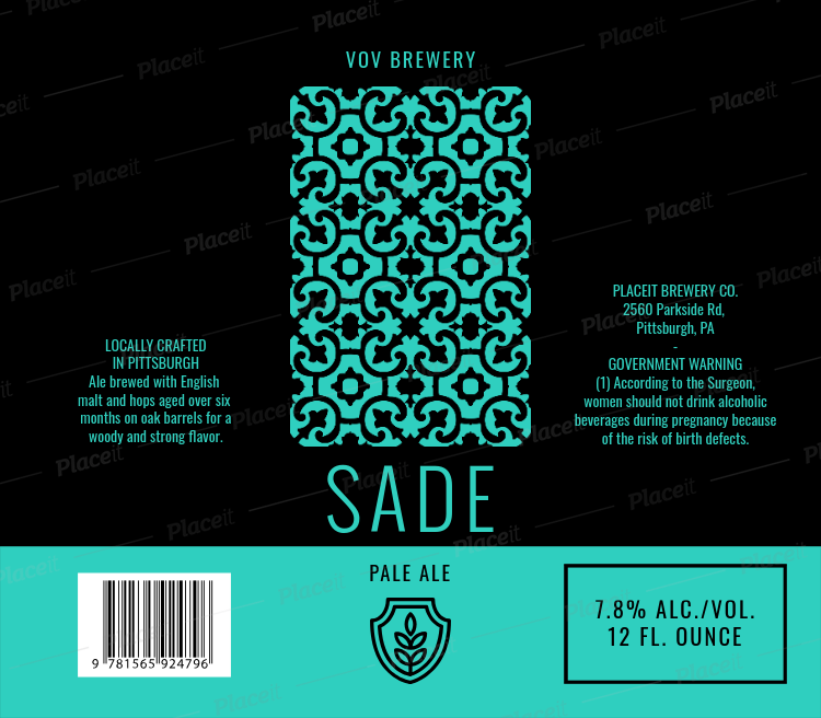 placeit beer label design maker with patterned graphic