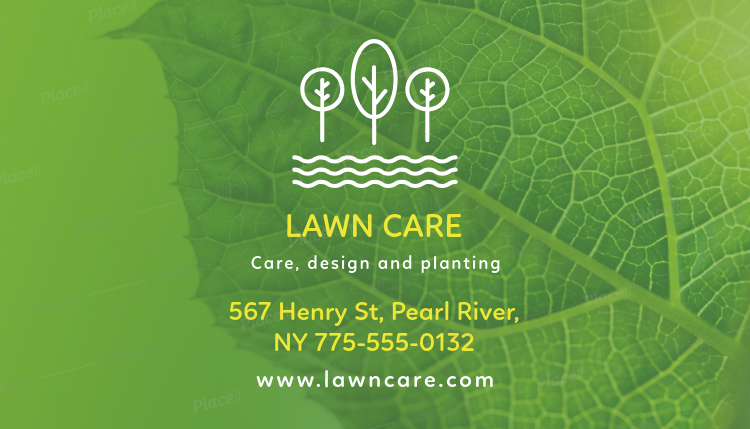 Placeit business card maker for a landscaping business business card template for a landscaping business 647foreground image wajeb Choice Image