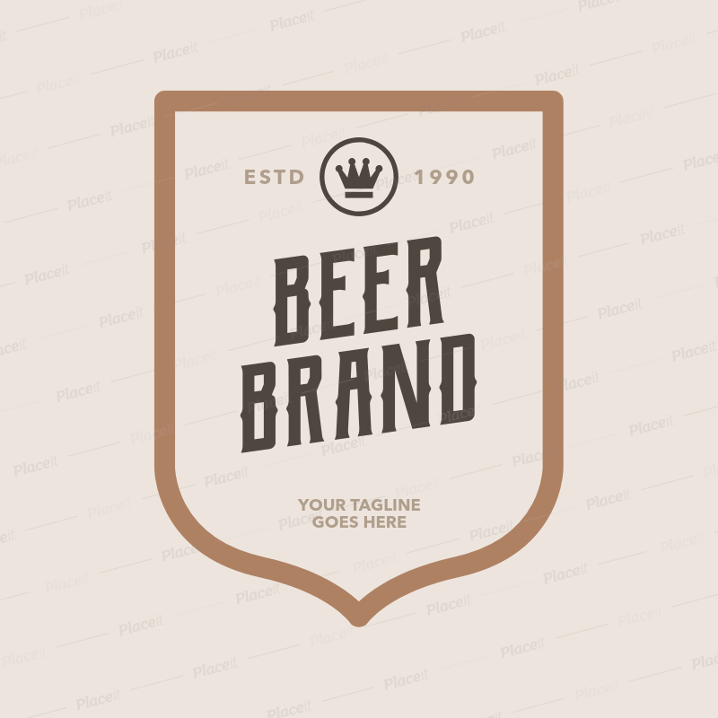 Placeit Beer Logo Maker With Frame