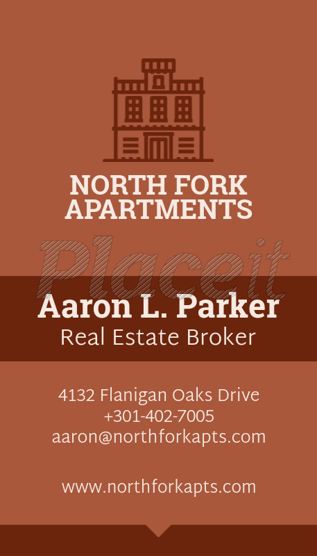 placeit real estate broker business card template