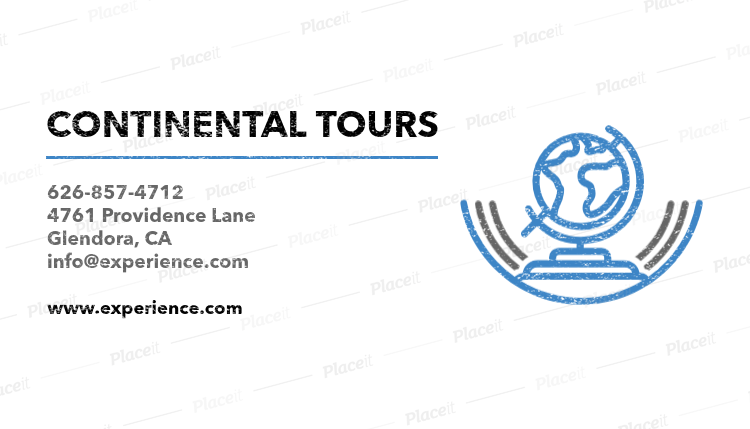 Placeit business card maker for continental tours business card maker for continental tours 487bforeground image colourmoves