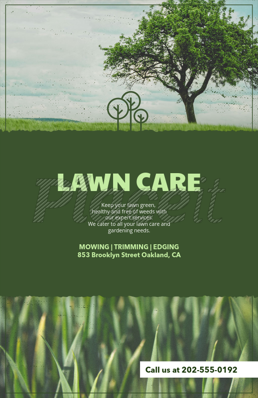 Placeit - Lawn Care Flyer Template with Customizable Titles