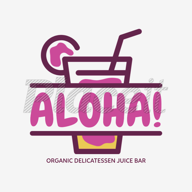 Online Logo Maker for a Juice Bar with Tropical Graphics 1235a