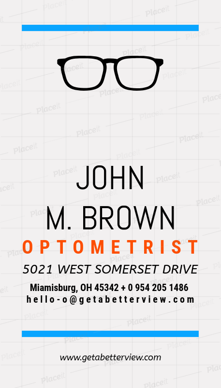 Placeit optometrist business card maker optometrist business card maker a172foreground image colourmoves