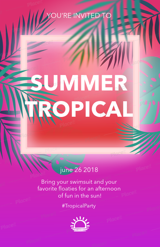 placeit flyer maker to design a pool party flyer