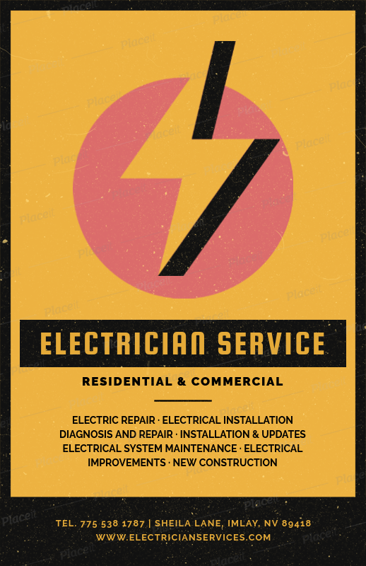 placeit flyer maker for residential electrician