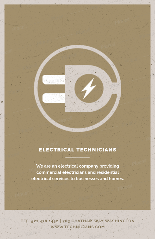 placeit electrical tech flyer design template