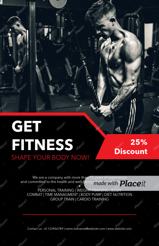 placeit flyer design template for fitness flyers