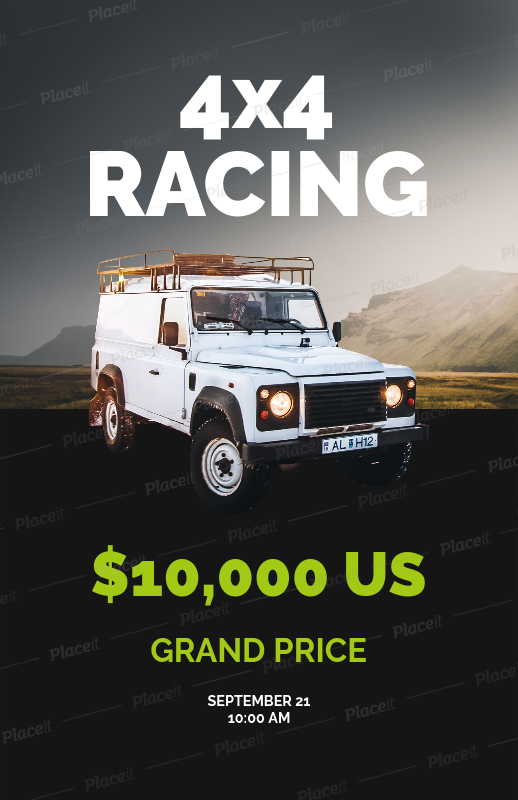 placeit online flyer maker for racing cars