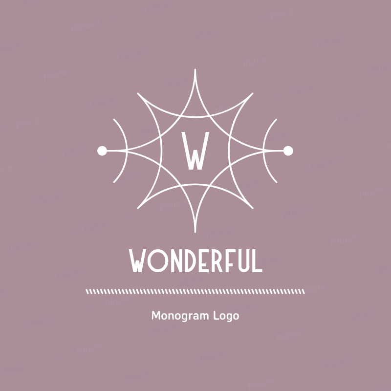 Placeit Abstract Logo Maker With A Star Shaped Monogram
