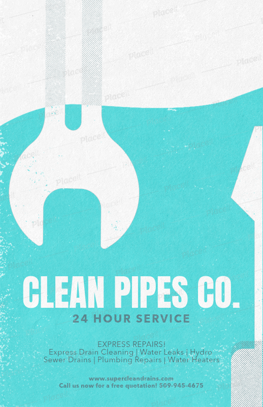 placeit flyer creator for plumbers
