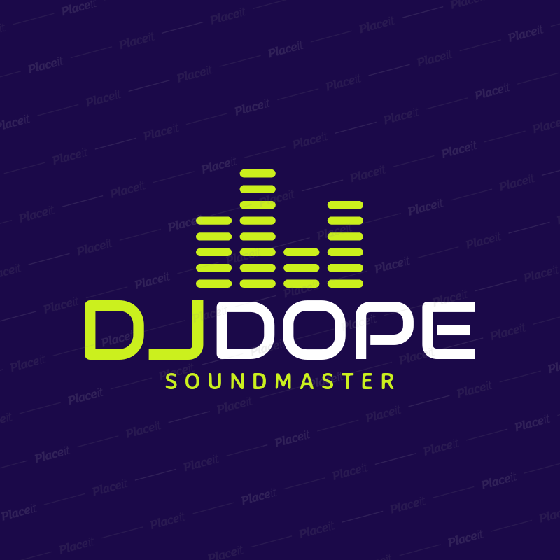 Placeit DJ Logo Maker