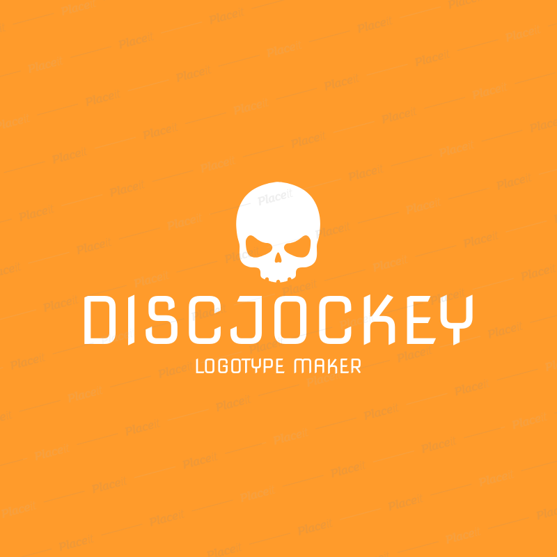 Placeit DJ Logo Maker With Skull Icon