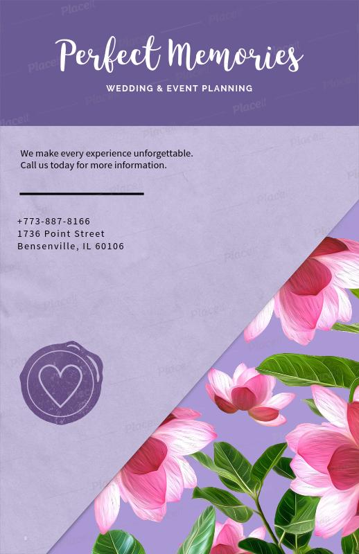 placeit wedding planning flyer template