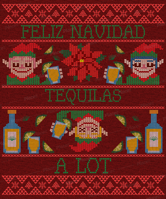 Placeit Ugly Christmas Sweater Design Template Featuring Funny Illustrations,Graphic Design School Los Angeles