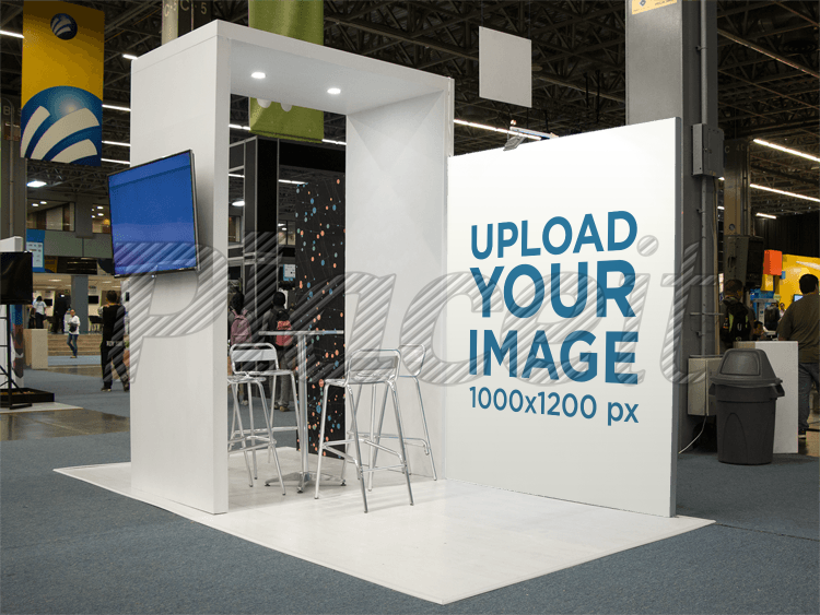 Exhibition Stand Free Mockup : Advertising exhibition stand mockup d composition with display