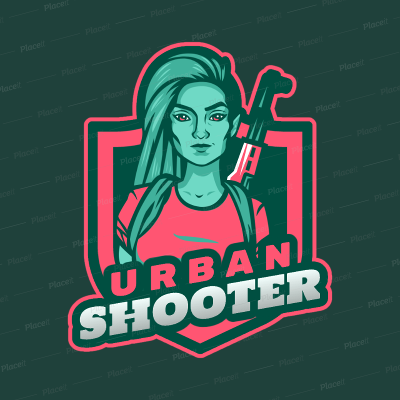 placeit gaming logo maker with a free fire inspired female character gaming logo maker with a free fire inspired female character 2637t 2890