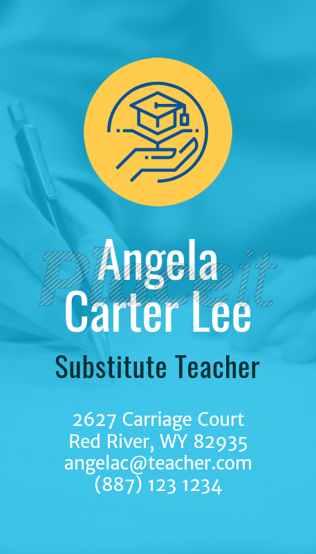 Placeit business card maker for substitute teachers vertical business card maker for substitute teachers 573aforeground image colourmoves