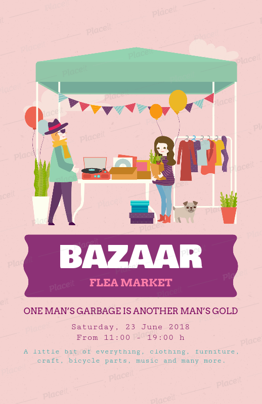 Placeit Bazaar Flyer Template