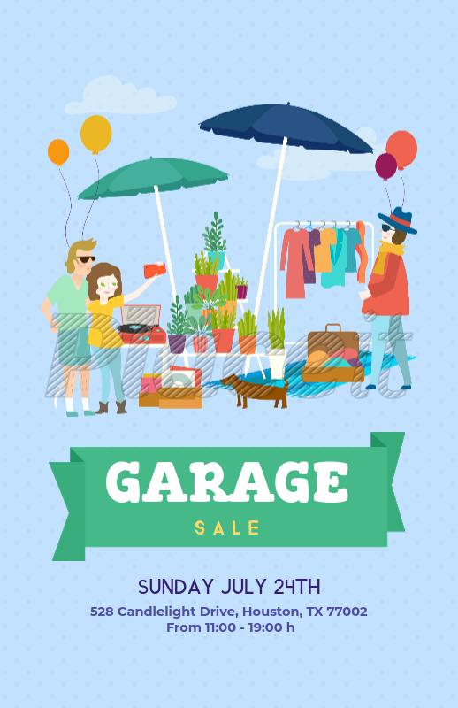 Placeit - Garage Sale Flyer Template